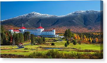 Autumn At The Mount Washington Crop Canvas Print