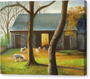 Autumn At The Sheep Barn Canvas Print by Oz Freedgood