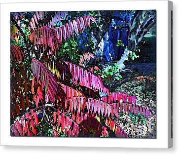 Canvas Print featuring the photograph Autumn At The Taverne by Joan  Minchak