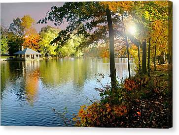 Autumn At Tilley Pond Canvas Print by Diana Angstadt