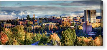 Autumn At Wsu Canvas Print by David Patterson