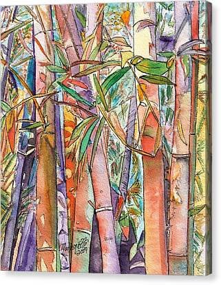 Autumn Bamboo Canvas Print by Marionette Taboniar