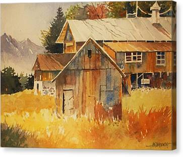Autumn Barn And Sheds Canvas Print