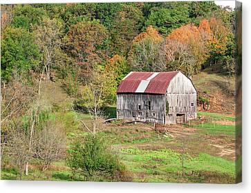 Autumn Barn Canvas Print by Todd Klassy
