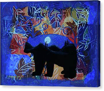Francis Canvas Print - Autumn Bear Silhoutte by Kenny Francis