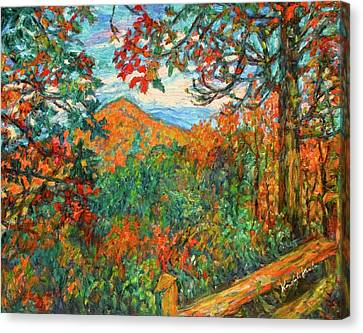 Autumn Beauty From Sharp Top Canvas Print