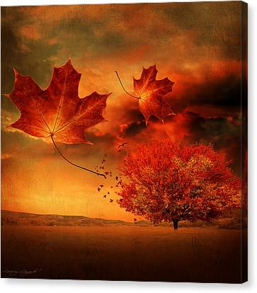 Autumn Blaze Canvas Print by Lourry Legarde
