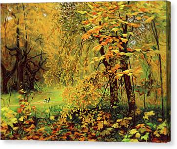 Reds Of Autumn Canvas Print - Autumn Bliss Of Color by Georgiana Romanovna
