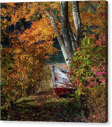 Autumn Boat Canvas Print by Bill Wakeley