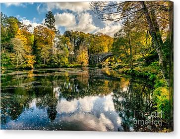 Autumn Bridge Canvas Print by Adrian Evans