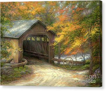 Canvas Print - Autumn Bridge by Chuck Pinson