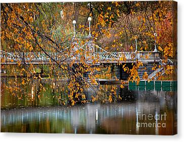 Autumn Bridge Canvas Print by Susan Cole Kelly