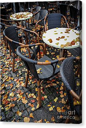 Canvas Print featuring the photograph Autumn Cafe by Elena Elisseeva