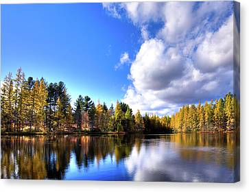 Canvas Print featuring the photograph Autumn Calm At Woodcraft Camp by David Patterson