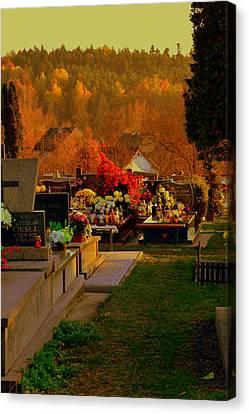 Autumn Cemetery Canvas Print