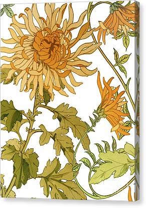 Autumn Chrysanthemums I Canvas Print by Mindy Sommers
