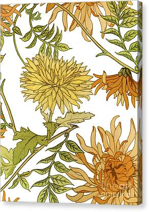 Autumn Chrysanthemums II Canvas Print by Mindy Sommers