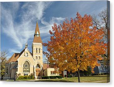 Autumn Church Canvas Print