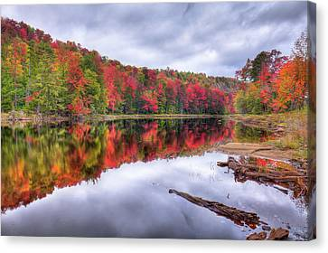 Canvas Print featuring the photograph Autumn Color At The Pond by David Patterson