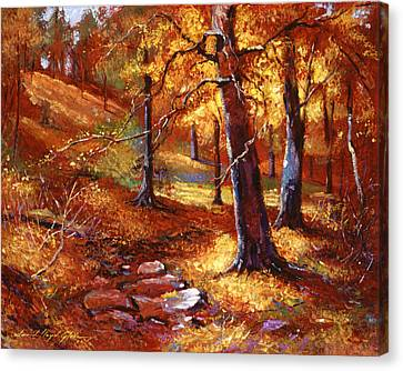 Autumn Color Palette Canvas Print by David Lloyd Glover