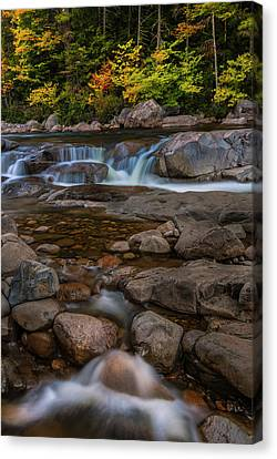Canvas Print featuring the photograph Autumn Colors In White Mountains New Hampshire by Ranjay Mitra