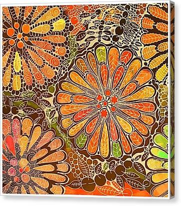 Autumn  Colors Mandalas  Canvas Print by Sandra Lira