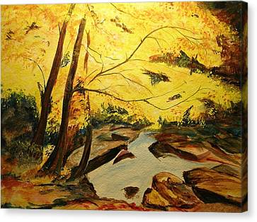 Autumn Colours Canvas Print by Lizzy Forrester