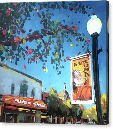 Autumn Comes To Franklin Canvas Print by Susan E Jones