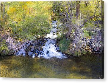 Autumn Comes To Oak Creek Canvas Print by Gary Kaylor