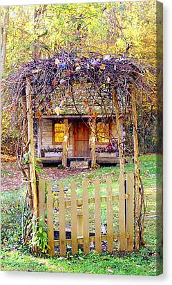 Autumn Cottage Canvas Print