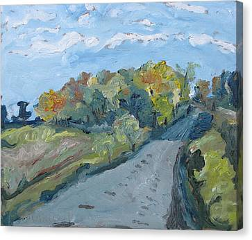 Gravel Road Canvas Print - Autumn Country Road by Francois Fournier
