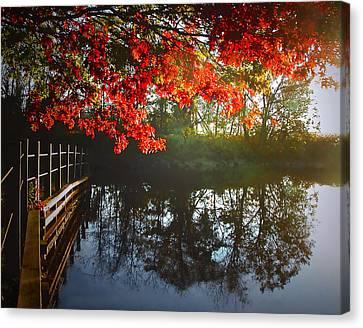 Autumn Creek Magic Canvas Print