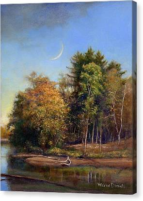 Canvas Print featuring the painting Autumn Crescent by Wayne Daniels