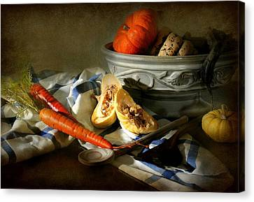 Autumn Crops Canvas Print by Diana Angstadt