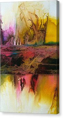 Canvas Print featuring the painting Autumn Dream by Mary Sullivan