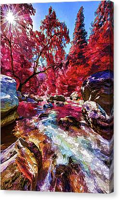 Oak Creek Canvas Print - Autumn Dreaming by ABeautifulSky Photography by Bill Caldwell
