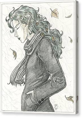 Autumn Dryad Canvas Print by Brandy Woods