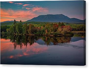 Maine Mountains Canvas Print - Autumn Dusk At Mount Katahdin by Rick Berk