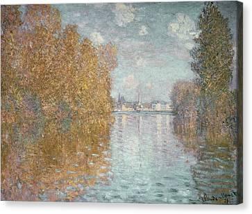 Autumn Effect At Argenteuil Canvas Print by Claude Monet