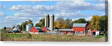 Autumn Elk Farm Canvas Print by Bonfire Photography