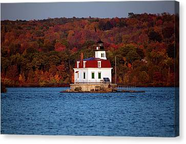 Autumn Evening At Esopus Lighthouse Canvas Print by Jeff Severson