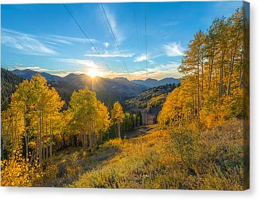 Autumn Evening At Guardsman Pass Utah Canvas Print by James Udall