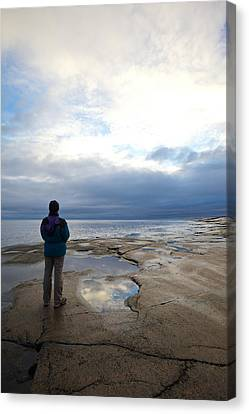 Windbreaker Canvas Print - Autumn Evening At The Sea by Ulrich Kunst And Bettina Scheidulin