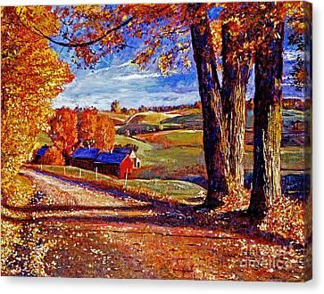 Autumn Evening Canvas Print by David Lloyd Glover