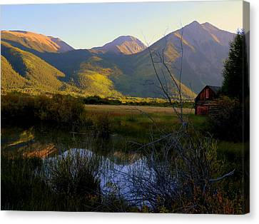 Canvas Print featuring the photograph Autumn Evening by Karen Shackles