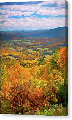 Autumn Fall Colors In The Arnold Valley Ap Canvas Print by Dan Carmichael