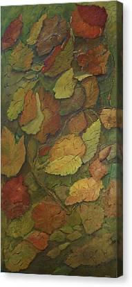 Autumn Falling Canvas Print