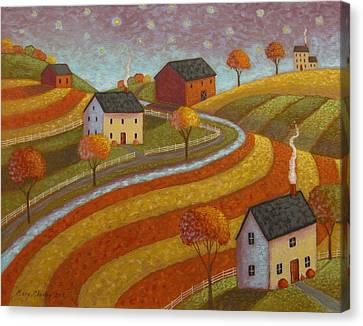 Autumn Farmland Canvas Print by Mary Charles