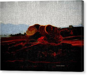 Autumn Scene Canvas Print - Autumn Fire by Lenore Senior