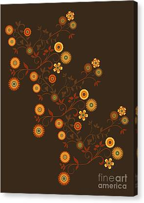 Autumn Flower Explosion Canvas Print by Methune Hively
